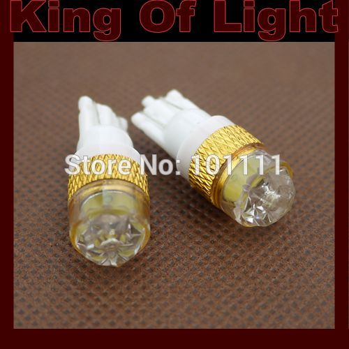 100X Car Auto LED T10 194 W5W 1.5W with lens Wedge LED Light Bulb Lamp White blue yellow green red free shipping