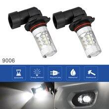 2 шт 9006 12 V 100 W 6000 K белый подсветка Автомобильный светодиодный фары противотуманные лампы лампочки