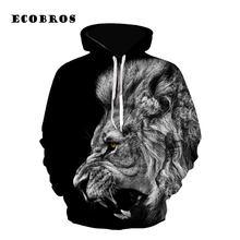 1130dfdee815 2019 Streetwear Autumn Men Woman Sweatshirt hoodie Casual lion head printed  pullovers 3D hoodies plus size lovers tracksuit