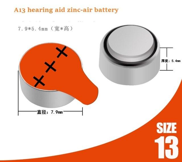 Livraison gratuite! 30 pièces de piles auditives A13 13A ZA13 13 PR48