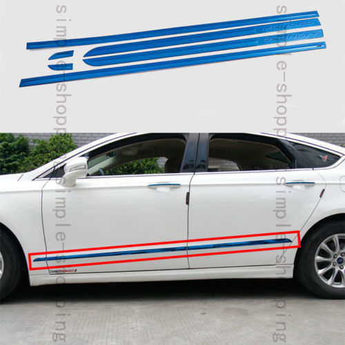 6Pcs Steel Blue Body door Side Molding trim Cover For Ford Fusion Mondeo 2013