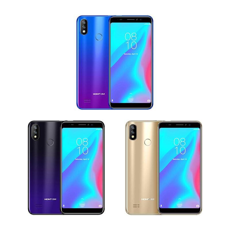 Version globale HOMTOM C8 téléphone portable 5.5 pouces Android 8.1 MT6739 Quad Core 2 GB + 16 GB Smartphone déverrouillage du visage identification d'empreintes digitales 4G FDD - 3