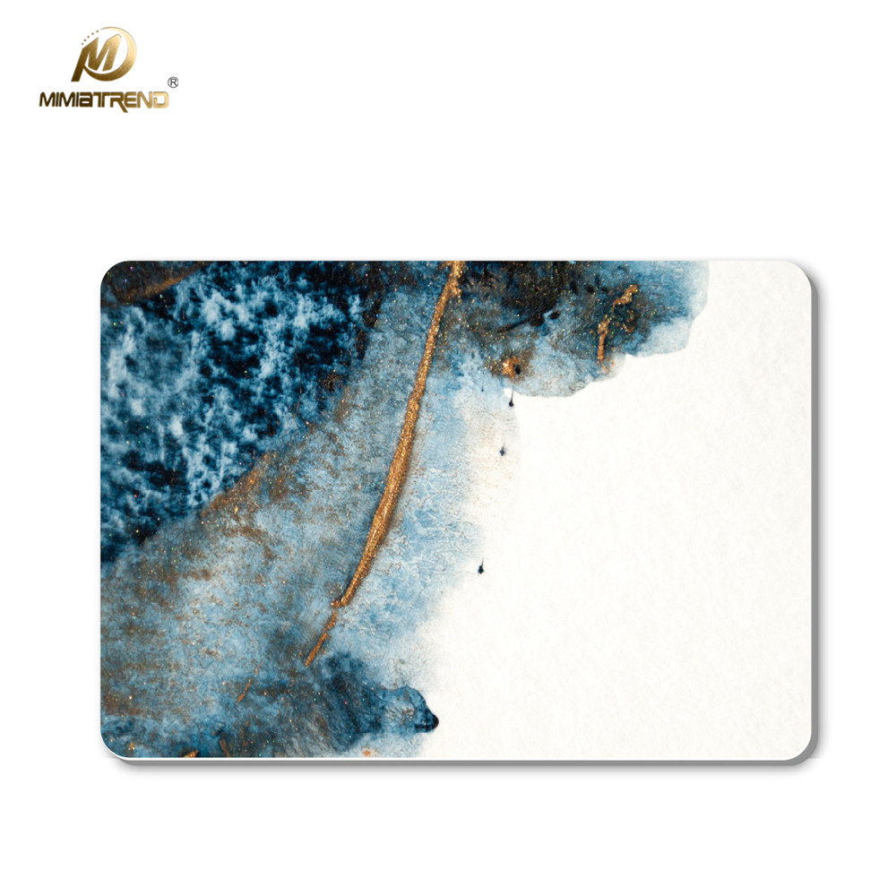 Mimiatrend Blue Marble Grain Full Body Cover Vinyl Decal Laptop Stickers For