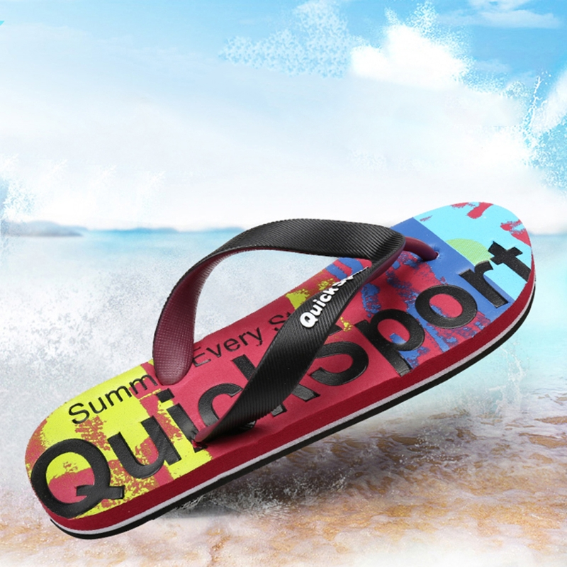 f115bee85653 New 2018 Men Flip Flops Rubber Thong EVA Sole Camouflage Alphabetic Prints  Shower Sandal-in Flip Flops from Shoes on Aliexpress.com