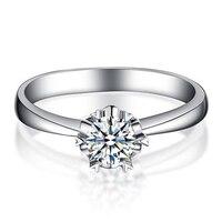 ANI 18 K Белое Золото (AU750) 0,2 КТ Сертифицированный I J/SI Бриллиант круглой огранки обручальное кольцо Solitaire настоящие ювелирные изделия из чистых