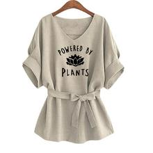 """Powered By Plants"" women's blouse"