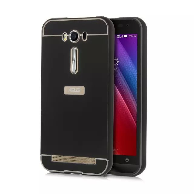 separation shoes 78424 50086 US $6.59 |Ultra Thin Aluminum Frame Case for Asus Zenfone 2 Laser ZE500KL  Dual Hybrid Metal Bumper Case+Plastic Back Cover for ZE500KL on ...