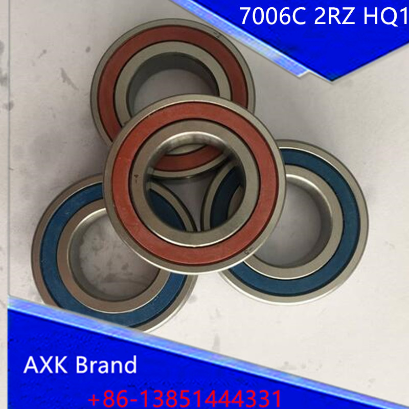 1pcs AXK 7006 7006C 2RZ HQ1 P4 30x55x13 Sealed Angular Contact Bearings Speed Spindle Bearings CNC ABEC-7 SI3N4 Ceramic Ball 1pcs 71901 71901cd p4 7901 12x24x6 mochu thin walled miniature angular contact bearings speed spindle bearings cnc abec 7