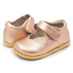 TipsieToes Astrid Rosa oro niños zapatos de cuero nuevos zapatos de los niños de los muchachos y de las muchachas zapatos de playa niños deporte sandalias de moda Zapatos Casuales