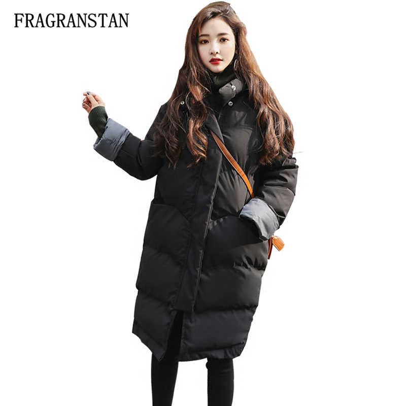 High Quality Thick Warm Winter Coat 2017 New Female Loose Cotton Plus Size Padded Long Cotton Jacket Women Outerwear Parkas LY33