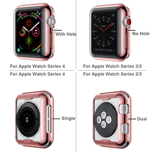 Image 5 - Moda 360 stopni wąski zegarek pokrywa dla Apple Watch 3/2 42MM 38MM Case miękka przezroczysta osłona na ekran z tpu dla iWatch 4 44MM 40MM