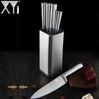 XYj juego de cuchillos de cocina de acero inoxidable, soporte de bloque, herramienta Santoku, herramienta para cortar pan, cuchillo, accesorios