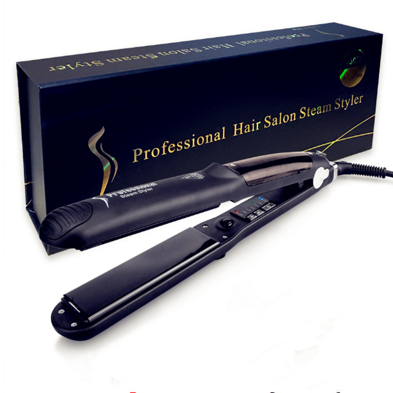 Professional Ceramic Vapor Steam Hair Straighteners with Argan Oil Infusion Flat Iron Straightening Irons Tool масло kativa morocco argan oil nuspa масло