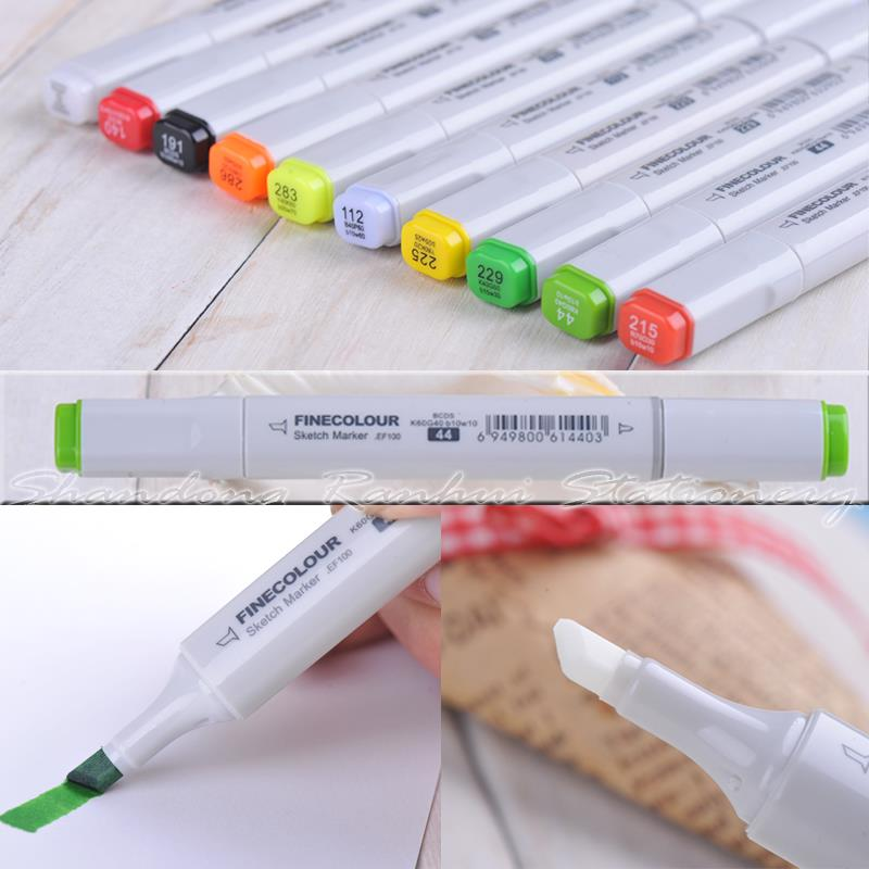 48 P Colors self-selection set Finecolour-One Marker Pen commonly used Sketch marker a markers отлив белый 250мм 2м