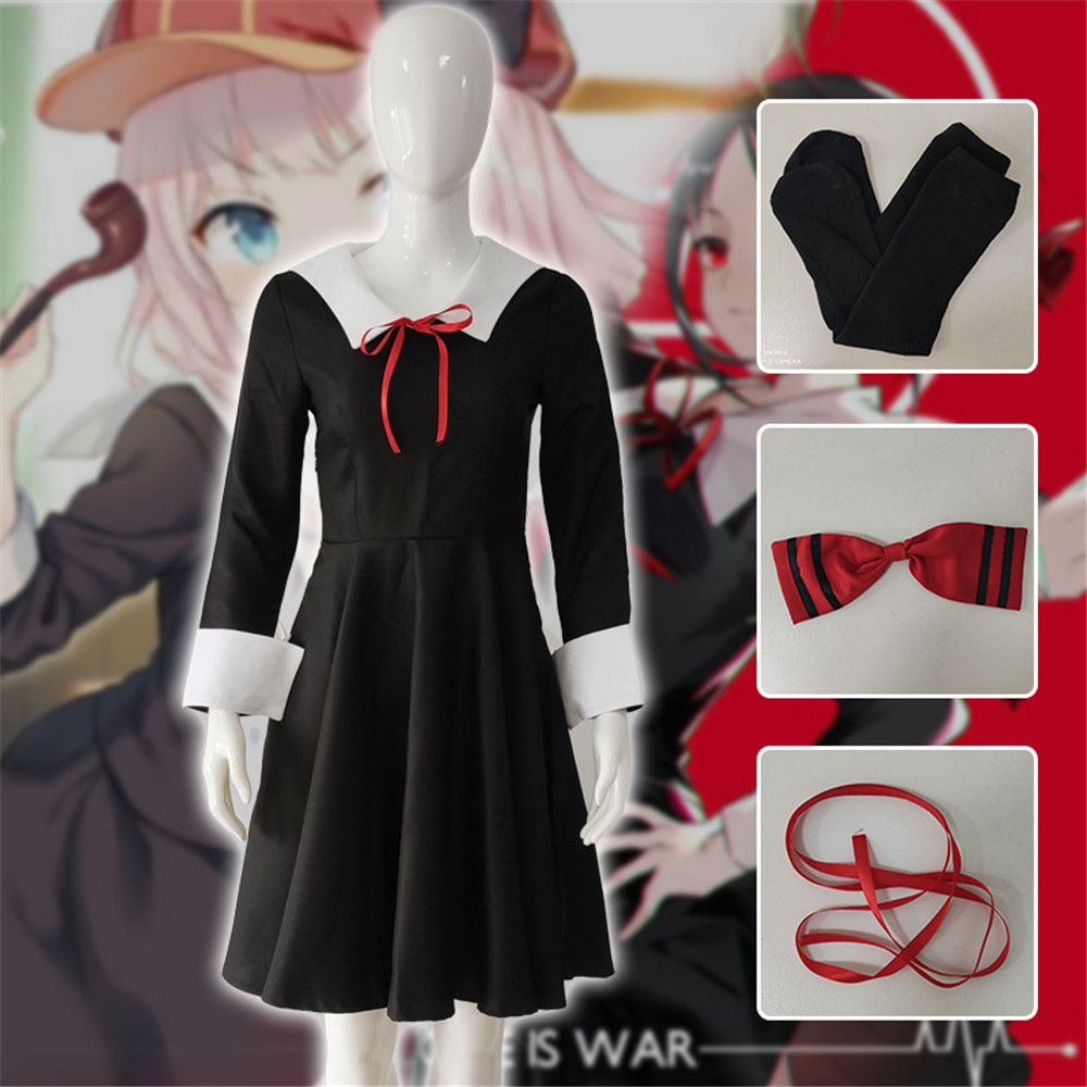 Cosplay Costume Kaguya Dress Shinomiya-Dresses School-Uniform Anime Women War Chika Girl