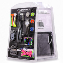 Champkey Luxury Golf Accessories Set Including Brush,Golf Tees,Golf Score Caddy,Golf Divot Tool,Cap Clip,Ball Marker,etc.