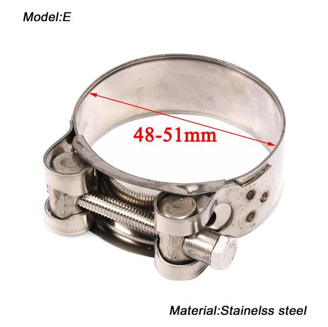 32-35mm Motorcycle Exhaust Pipe Clamp MoreChioce Adjustable Stainless Steel Clamp Clip Rings Silver Clamp for Motorcycle Exhaust Pipe Middle Buckle