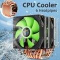 Кулер для процессора  6 медных тепловых труб  двойной вентилятор  кулер  тихий охлаждающий вентилятор  радиатор для LGA 1150/1151/1155/1156/1366/775 для AMD