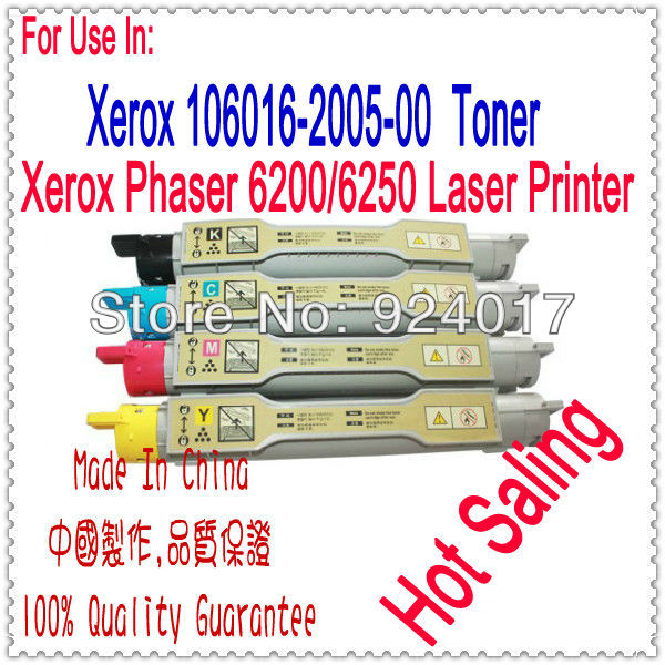 Refill Toner For Fuji Xerox Phaser 6200 6250 Printer,For Xerox 6200 6250 Toner Refill Chip,For Xerox Toner 016-2001/02/03/04-00 imaing workcentre dc5016 5020 toner chip laser printer cartridge chip reset for fuji xerox dc5016 5020 drum chip free shipping