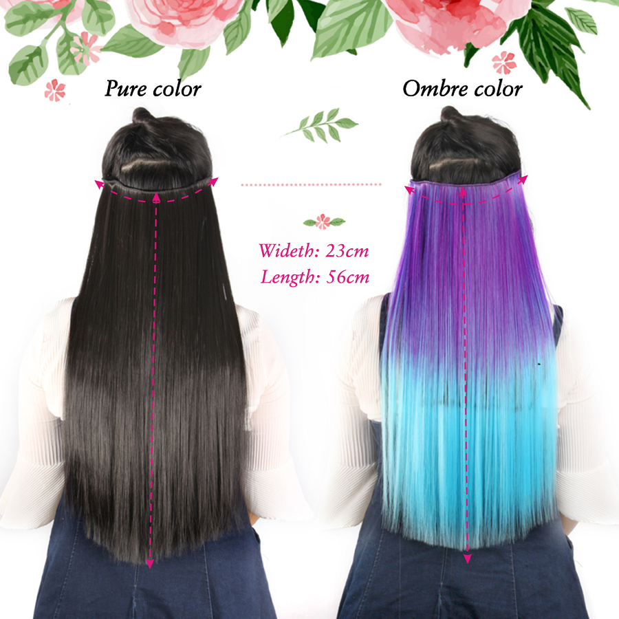 Alileader Synthetic Hair Clip In Hair Extensions 5 Clips 22 55cm