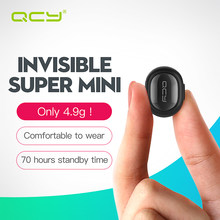 QCY Q26 invisible mini earphone business bluetooth headphone wireless headset noise canceling earbud with Mic for phone calls(China)
