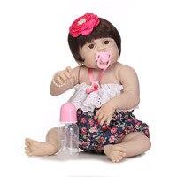 Bebes reborn NPK девушка тело полный Силиконовый reborn baby куклы 22 56 см Прекрасный новорожденный принцесса малыш BJD куклы живой ребенок