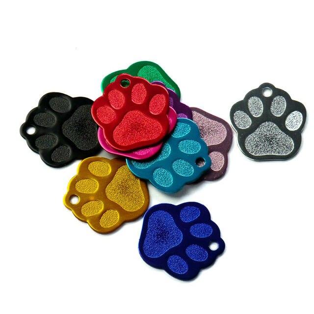 Commercio all'ingrosso 20 Pz Forma ZAMPA 3D Squisita Personalizzato Pet Dog ID t