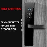 Smart Door Lock Home Keyless Lock Fingerprint + Password Work Electronic Lock Anti theft lock