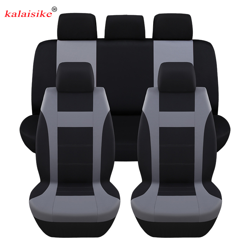 kalaisike high quality polyester Universal Car Seat covers Fit Most Automobiles Interior Accessories car styling auto Cushion high quality car seat covers for lifan x60 x50 320 330 520 620 630 720 black red beige gray purple car accessories auto styling