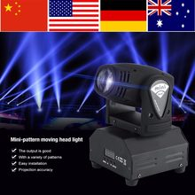 2Pcs 50W LED RGBW Moving Head Stage Light DMX512 Disco DJ Light Party Effect Lights EU Plug 220~240V luces discoteca(China)