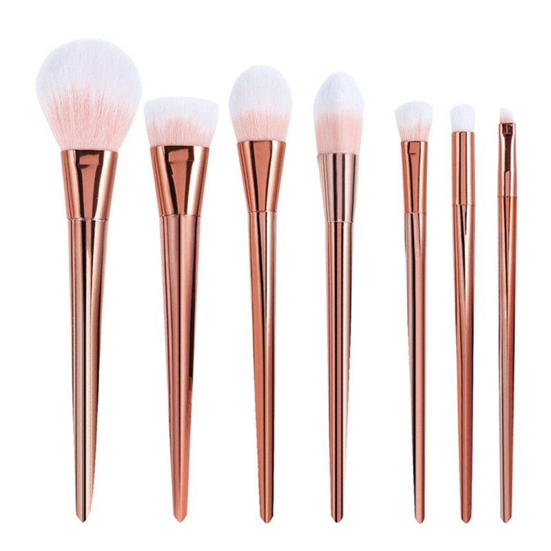 7Pcs Professional Makeup Cosmetic Powder Foundation Eyeshadow Brushes Set Tool 7 pcs cosmetic face cream powder eyeshadow eyeliner makeup brushes set powder blusher foundation cosmetic tool drop shipping