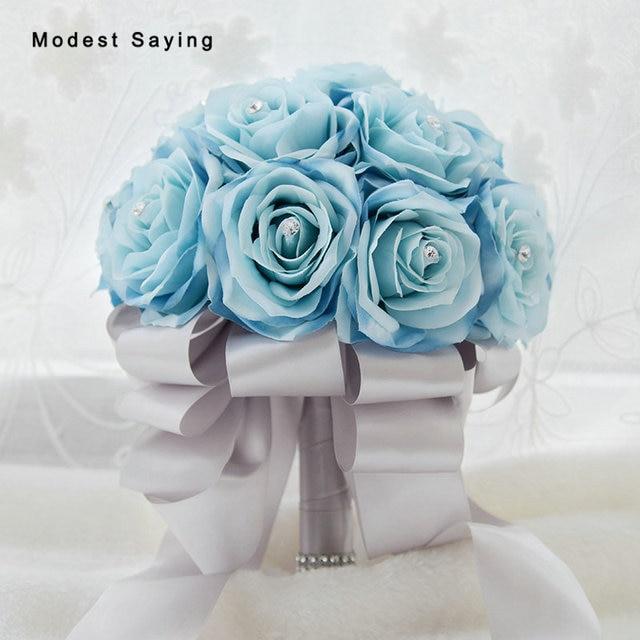 New Arrival Elegant Light Blue Artificial Wedding Bouquets 2017 ...