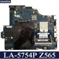 KEFU NAWE6 LA 5754P Laptop motherboard for Lenovo Z565 G565 Test original mainboard