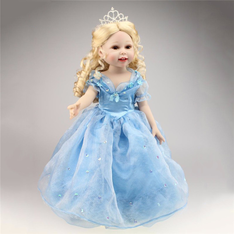 ФОТО Reborn Baby Model Toys Realistic Dolls With Blue Princess Clothing Newborn Model For Children   Christmas Gifts Collections 45cm
