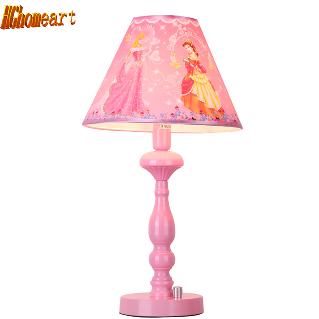 Hghomeart Kids Room Pink Bedside Lamp Led E27 Chinese Contemporary Table Lamps Home Lighting Modern Staircase