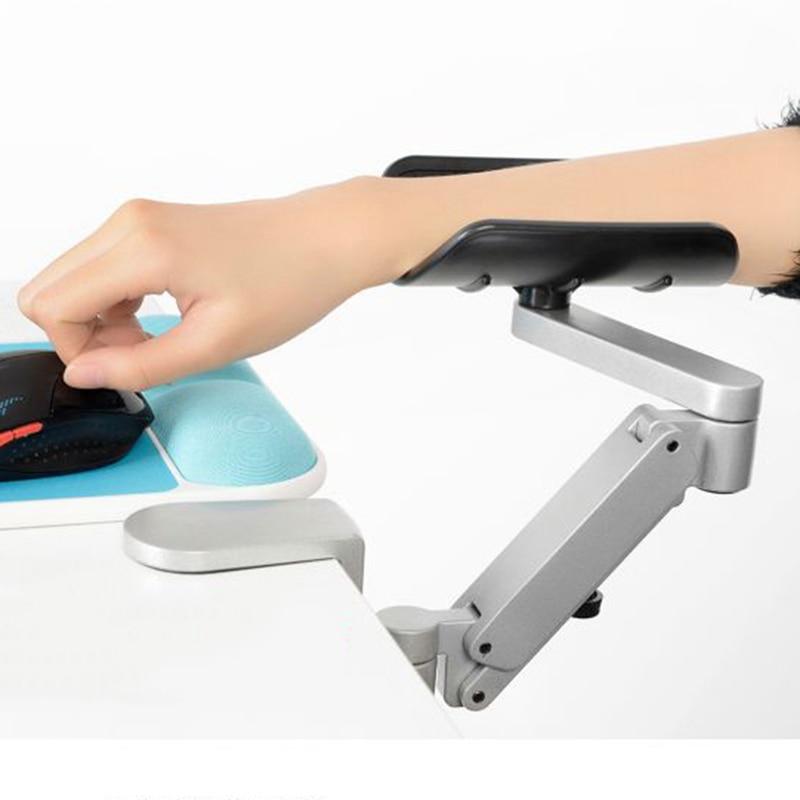 FFFAS Support de bras de bureau en alliage d'aluminium tapis de souris Spinner Support de main épaule protéger gamer tapis de souris de jeu tapis de clavier - 2