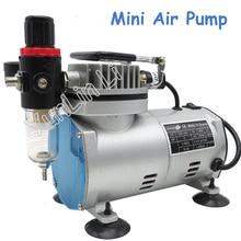 220 В 23-25 л/мин 1/5Hp небольшой электрический поршневой вакуумный насос Аэрограф компрессор MS18-2
