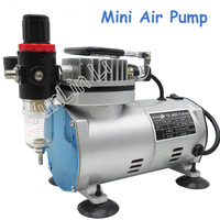 220V Small Air Compressor 23 25 L/min 1/5Hp Small Electric Piston Vacuum Pump Airbrush Compressor MS18 2