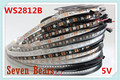 DC5V 1m/5m Black/White PCB 30/60/144 leds/m WS2812IC 30/60/144 LED pixels WS2812B Smart led pixel strip lights