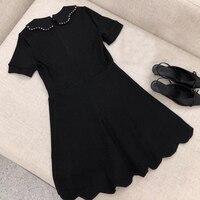 Летнее платье для Для женщин короткий рукав o образным вырезом элегантное модное платье 2018 Новое Женское платье