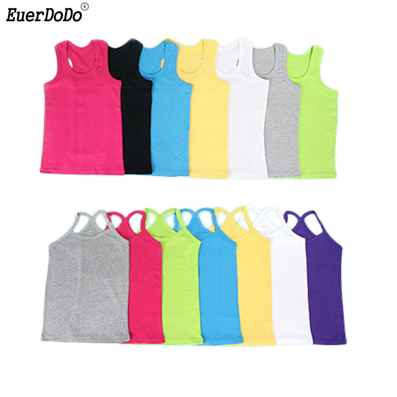 Girls T Shirt Children T Shirts For Boys Candy Color Children T-shirts Girls Top Cotton Vest Kids Undershirt Baby Singlets(China)