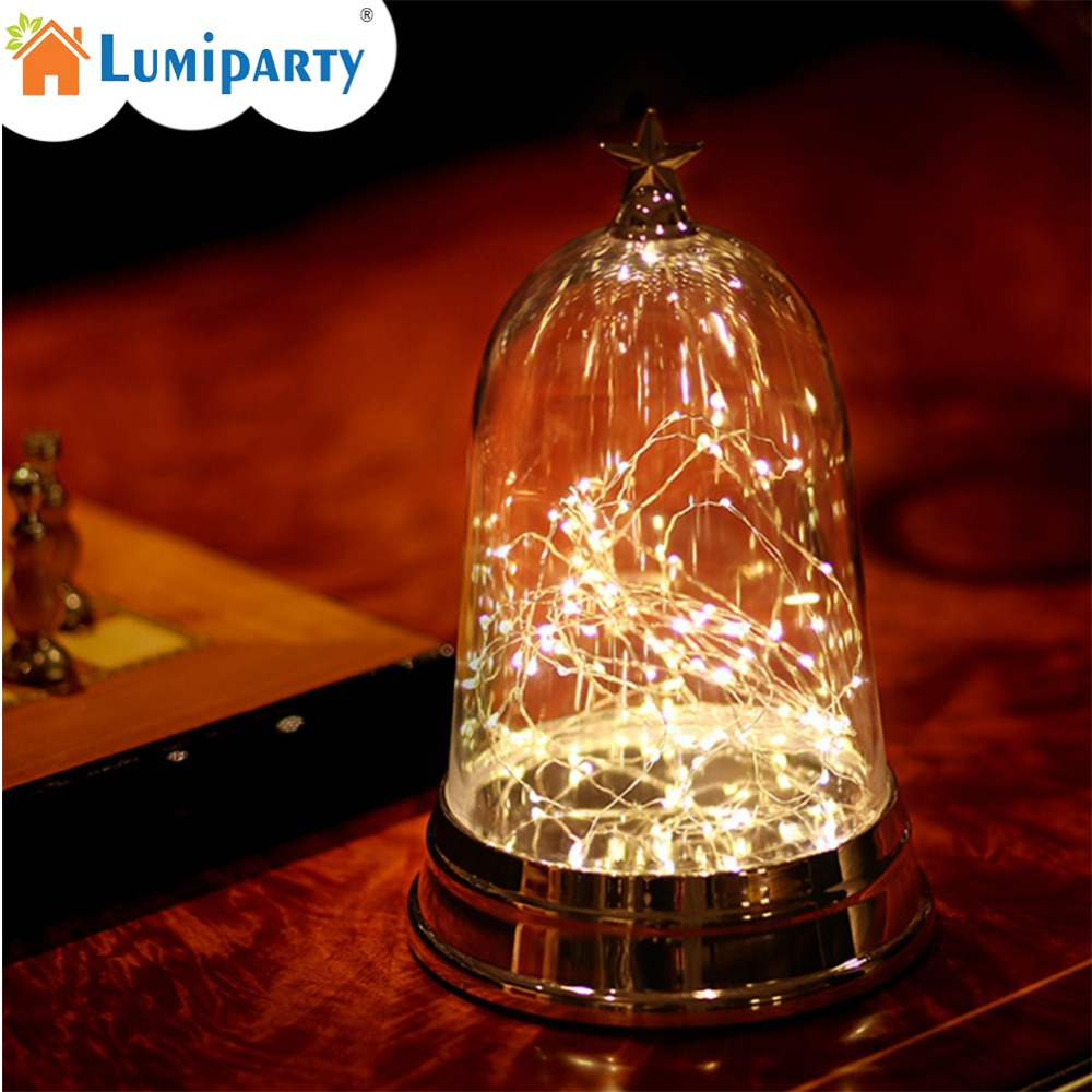 LumiParty Creative Night Light Fireworks Art Work Crafts Lamp with Transparent Cover Valentines Day Gift