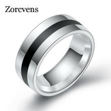 ZORCVENS 316L Высокое качество Мужские эпоксидные титановые кольца из нержавеющей стали парные кольца для влюбленных для женщин мужчин серебряные винтажные классные кольца