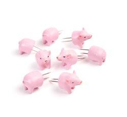 Fourchettes à maïs doux en acier inoxydable, supports de cochon, pics de maïs rose, pique-nique, BBQ, accessoires de cuisson 4 ensembles