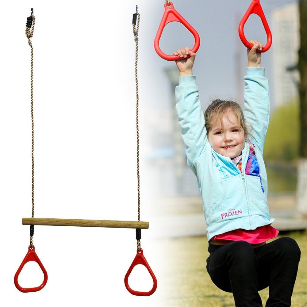 где купить High Quality Kids Fitness Sports Home Outdoor Fitness Equipment Chin-up Indoor Traction Adjustable Set Combo Children Trapeze дешево