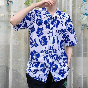 8dfaee0bf2 Verano hombre manga corta playa camisas hawaianas Casual camisas Plus  tamaño S-5XL Aloha Hawaiano camisas para Hombre Ropa