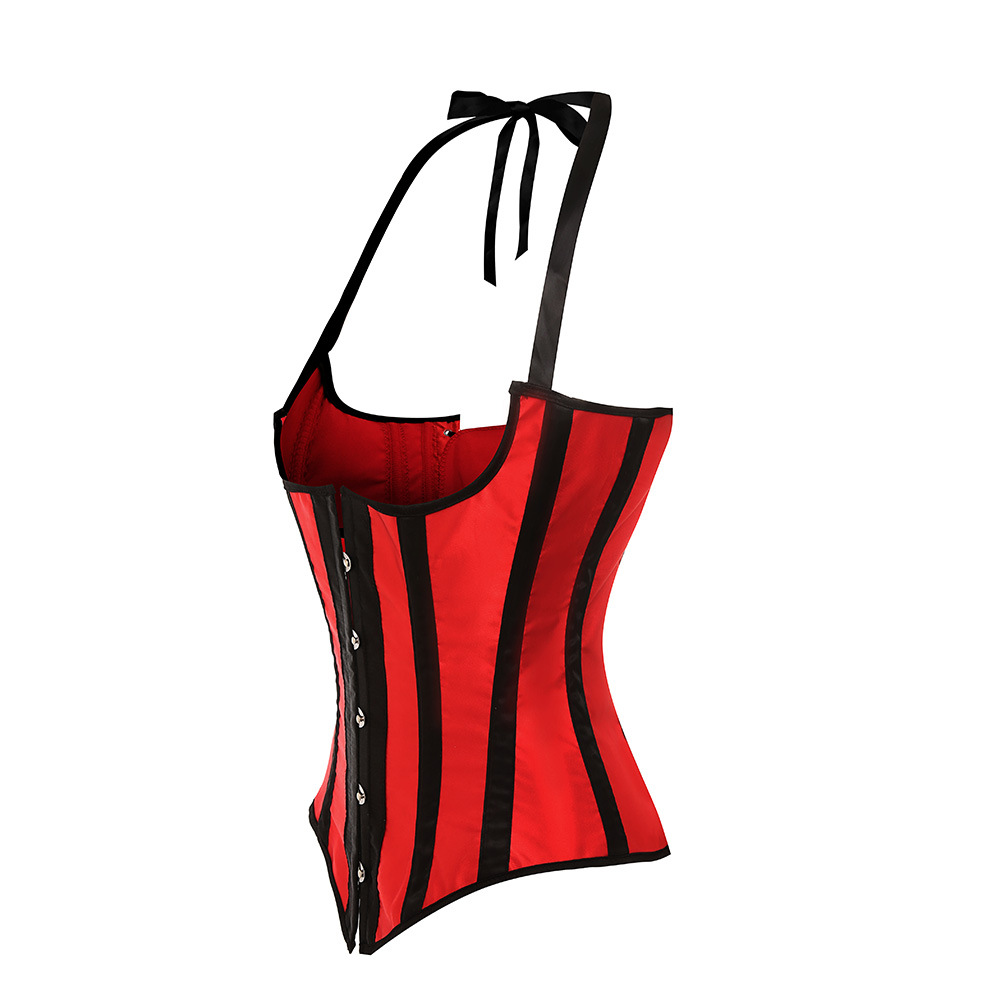 ce745d59557 Sapubonva underbust corset straps sexy striped halter corsets and bustiers  tops plus size corselet overbust vest red black white-in Bustiers   Corsets  from ...