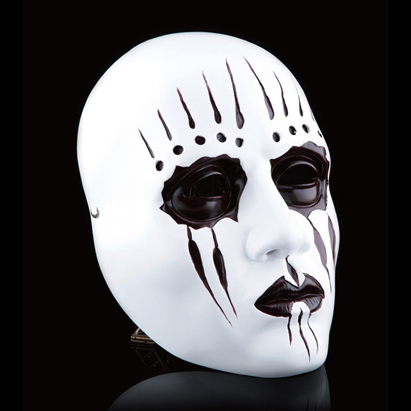 resin gmask slipknot joey cosplay mask scary mask white slipknot mask adult fancy costume party masquerade halloween props - Creepy Masks For Halloween