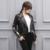 Jaquetas femininas de couro genuíno Roupas de pele de carneiro Curto parágrafo Bordado personalizado fornecimento Direto de fábrica