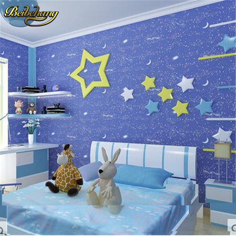 Beibehang Environmental Non Woven Wallpaper Cartoon